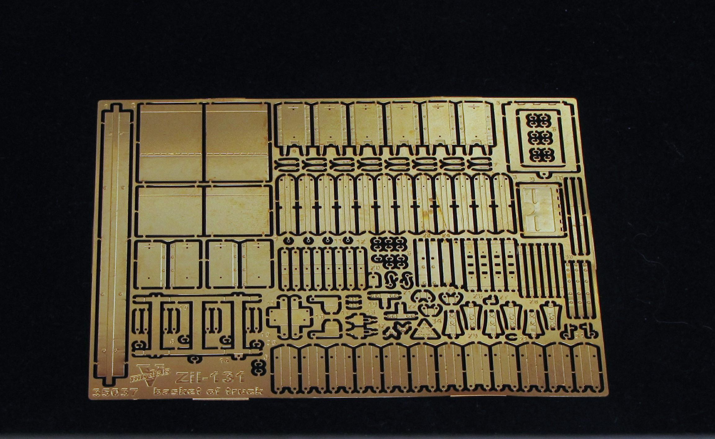 "ZiL - 131 basket of truck (""ICM"" model kit) 35037"