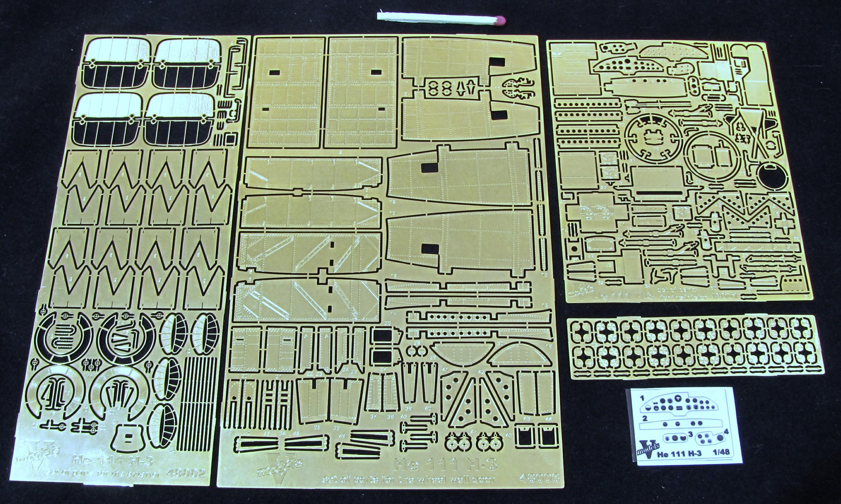 Набор He 111 H-3  48001, 48002, 48003