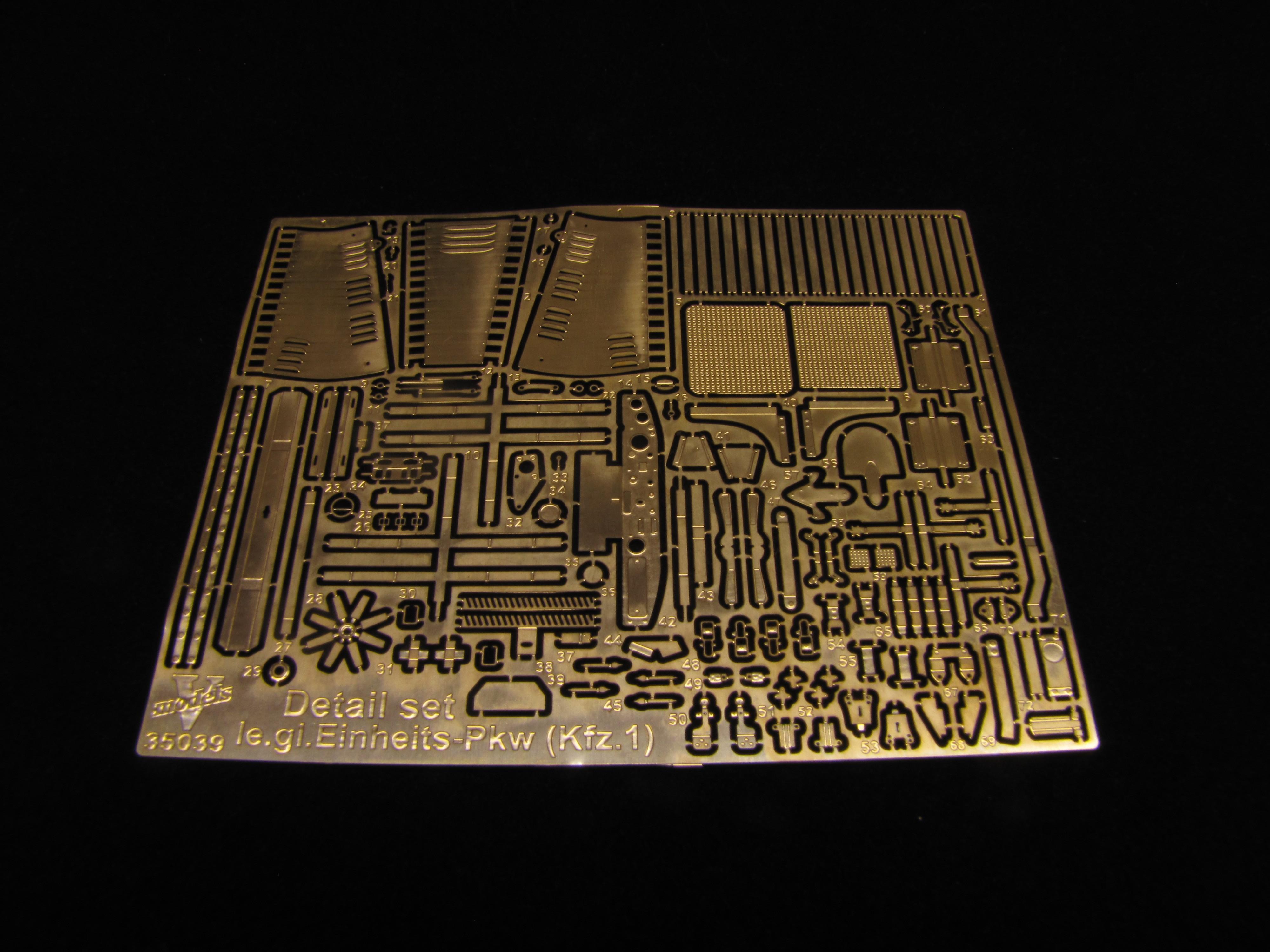 Detail  set le,gl.Einheits-Pkw(Kfz,1) (ICM model kit) 35039